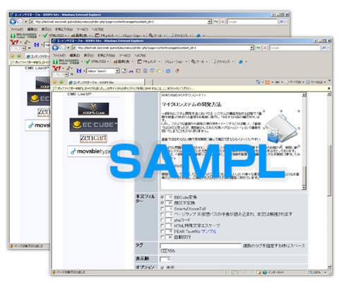 開発画面例